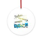 Lights Camera Music Dance Ornament (Round)