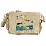 Lights Camera Music Dance Messenger Bag