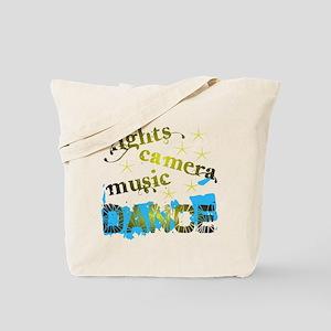 Lights Camera Music Dance Tote Bag