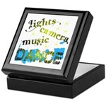 Lights Camera Music Dance Keepsake Box