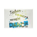 Lights Camera Music Dance Rectangle Magnet
