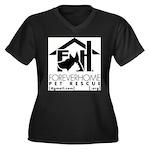 Foreverhome Women's Plus Size V-Neck Dark T-Shirt