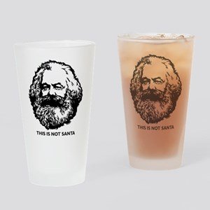 Marx Not Santa Drinking Glass