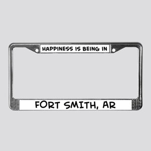 Happiness is Fort Smith License Plate Frame
