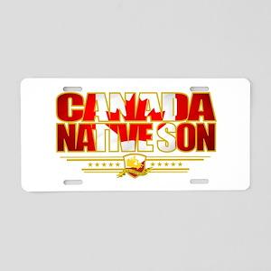 Canada Native Son Aluminum License Plate