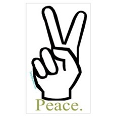 Peace, Peace sign Poster