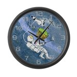 Space Golf Large Wall Clock