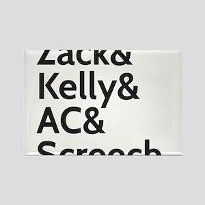 Zack & Kelly Rectangle Magnet