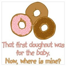 Doughnuts For Baby Framed Print