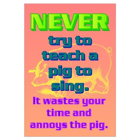 And it annoys the pig