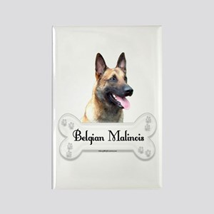 Malinois 2 Rectangle Magnet