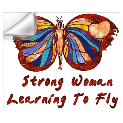 Strong Woman Learning To Fly Wall Decal