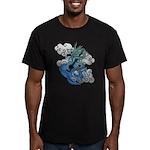 Dragon aco Men's Fitted T-Shirt (dark)