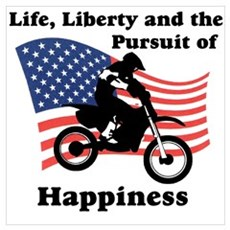 Motocross Happiness Poster