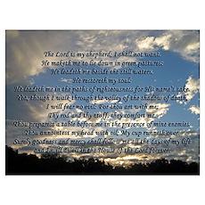 Beautiful Psalm 23 Poster