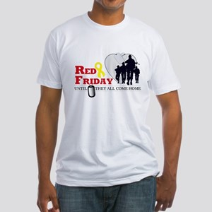 Red Friday - Until They All C Fitted T-Shirt