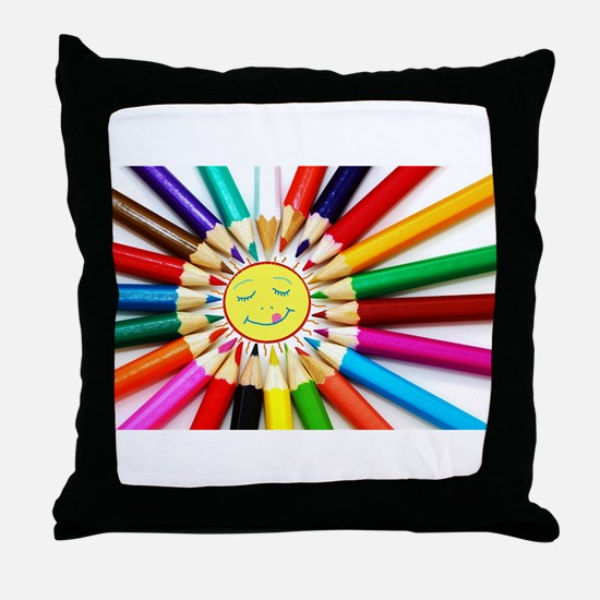 Cute Drawing Throw Pillow