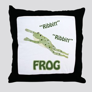 Ribbitt Frog Throw Pillow
