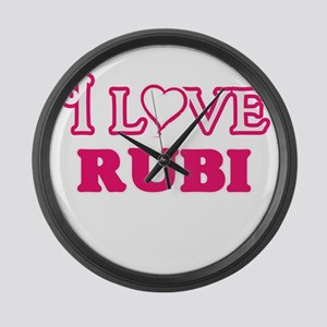 I Love Rubi Large Wall Clock