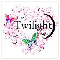 Twilight Butterfly Heart Poster