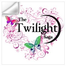 Twilight Butterfly Heart Wall Decal