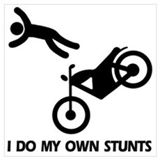 Motorcycle, motorcycle stunts Poster