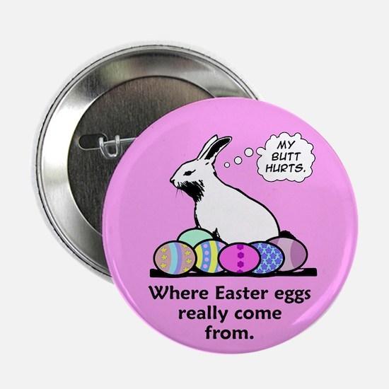 """Bunny Butt 2.25"""" Button"""