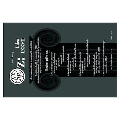 """Liber Oz 35x23"""" - Slate Poster"""