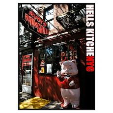 """Hell's Kitchen Pig"" Fine Art 20x28"" Poster"