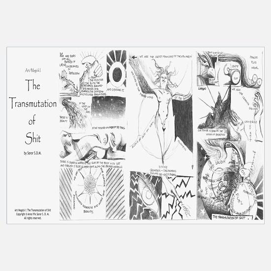 """The Transmutation of Shit"" Framed 6x14"""
