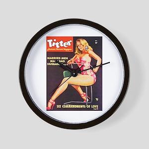 Titter Hot Beauty Queen Girl Wall Clock