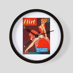 Flirt Redhead Beauty Girl Cover Wall Clock