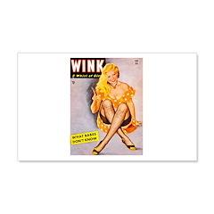 Wink Cross-Legged Blonde Girl 22x14 Wall Peel