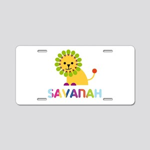 Savanah the Lion Aluminum License Plate