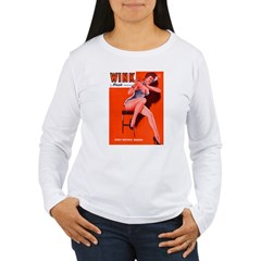 Wink Red Hot Brunette Girl T-Shirt