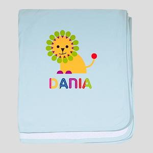 Dania the Lion baby blanket