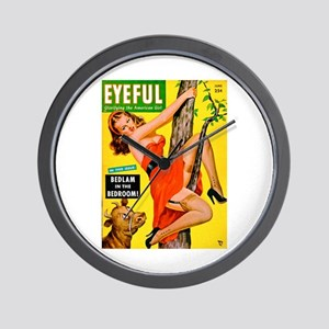 Eyeful Beauty Girl in Tree Cover Wall Clock