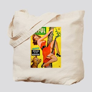 Eyeful Beauty Girl in Tree Cover Tote Bag