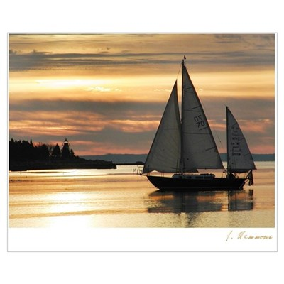 Sunrise Sail Canvas Art