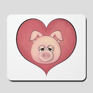Pig Heart Mousepad