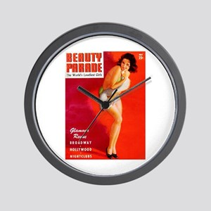 Beauty Parade Brunette Girl Cover Wall Clock