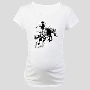 B/W Bronco Maternity T-Shirt