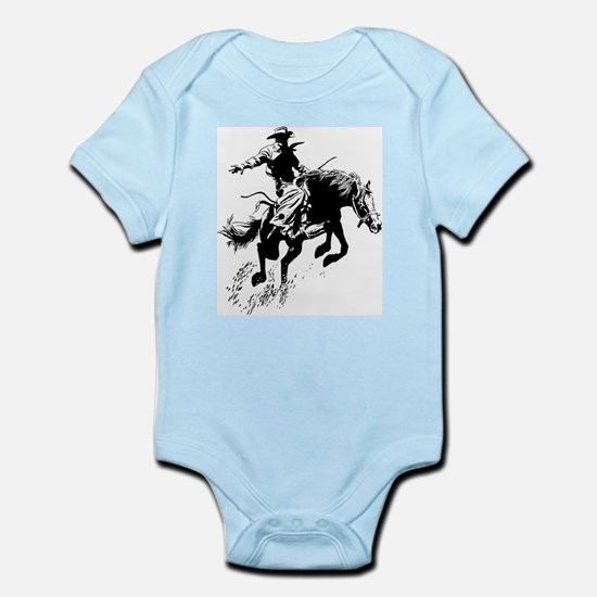 B/W Bronco Infant Bodysuit