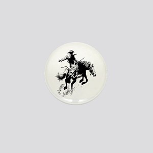 B/W Bronco Mini Button