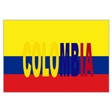 Colombia tricolor Canvas Art