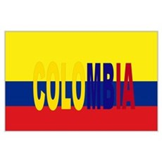 Colombia tricolor Poster