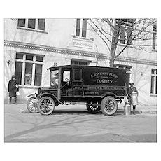 Lewinsville Dairy Truck, 1923 Poster