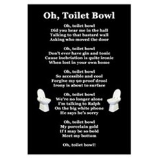 """Oh, Toilet Bowl!"" Poetic Print Canvas Art"