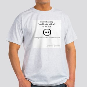 Double-Dot Wide-O Ash Grey T-Shirt
