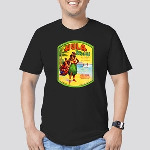 Hawaii Beer Label 2 Men's Fitted T-Shirt (dark)